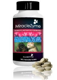MiracleZyme® provides all the benefits of Probiotic Miracle® and Enzyme Miracle® powders into one convenient tablet for pets.