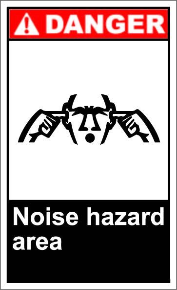 Noise Hazard Area $1.64 #signs