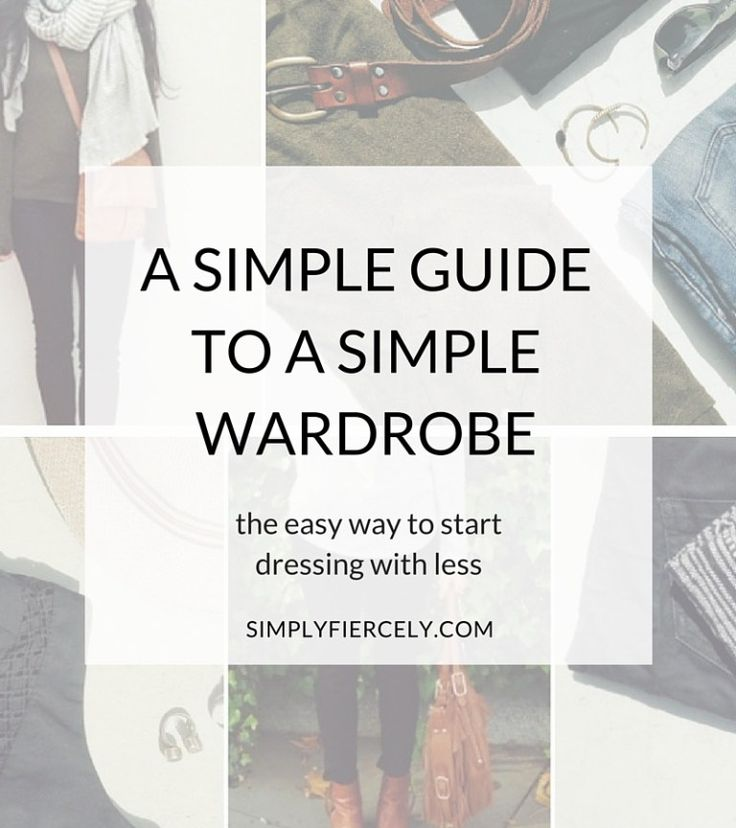 Inspired by minimalist style but struggling to create a simple wardrobe? Here's a simple way to make it work for you.