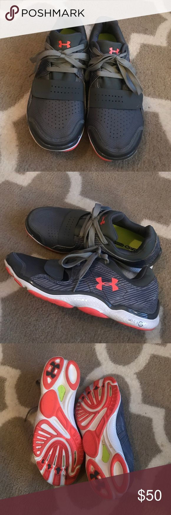 NEW Under Armour Tennis Shoes NEW Under Armour Tennis Shoes- no box! Women's size 8.5! Gray & orangish/pink colors! Under Armour Shoes Athletic Shoes