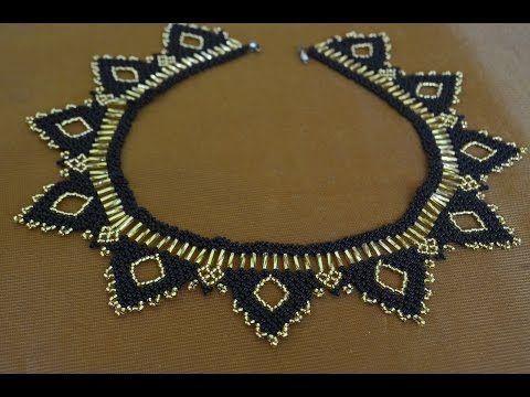 Колье из бисера. Бисероплетение. Мастер класс /Necklaces of beads. Beading - YouTube