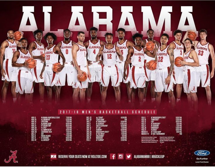 The 2017-18 men's basketball posters are out! Graphic from @alabamambb on Instagram | #Alabama #RollTide #Bama #BuiltByBama #RTR #CrimsonTide #RammerJammer #BuckleUp