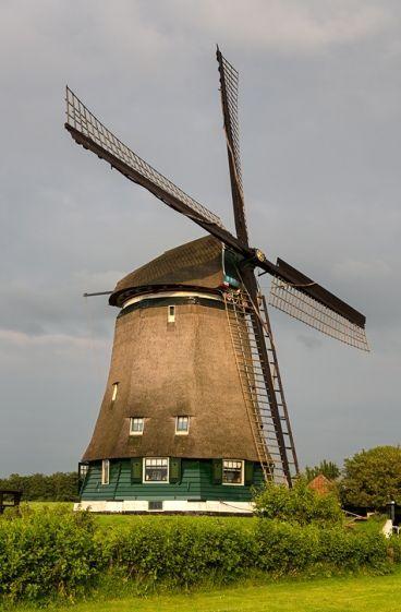 Polder mill Nekkermolen, Neck, the Netherlands.