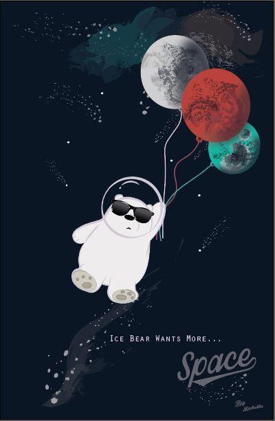 #Ice#bear#wants#more#space! We love Ice Bear We bare bears