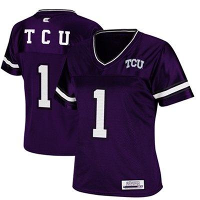 TCU Horned Frogs #1 Womens Stadium Replica Football Jersey - Purple 40$