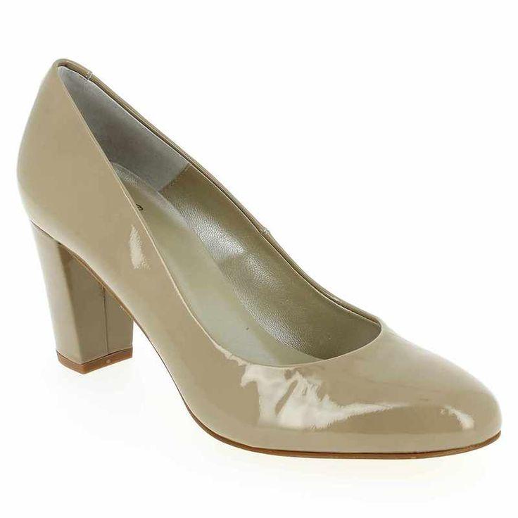 Chaussure Perlato 7903 Beige pour Femme | JEF Chaussures 7cm