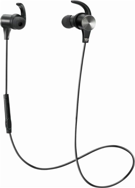 TaoTronics - TT-BH07 Wireless In-Ear Headphones (iOS) - Black - Front_Zoom