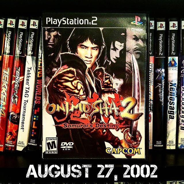 August 27 in 2002, #Capcom released #Onimusha2SamuraisDestiny for the #Sony #Playstation2. ________________________________ #PS2 #Jubei #Oyu #Onimusha2 #RetroGameRoom #RetroGaming #RetroCollective #RetroGamer #Gamer #InstaGamer #UltimateGamer #VideoGames #GameCollection #GameCollector #Gaming #ANXGC