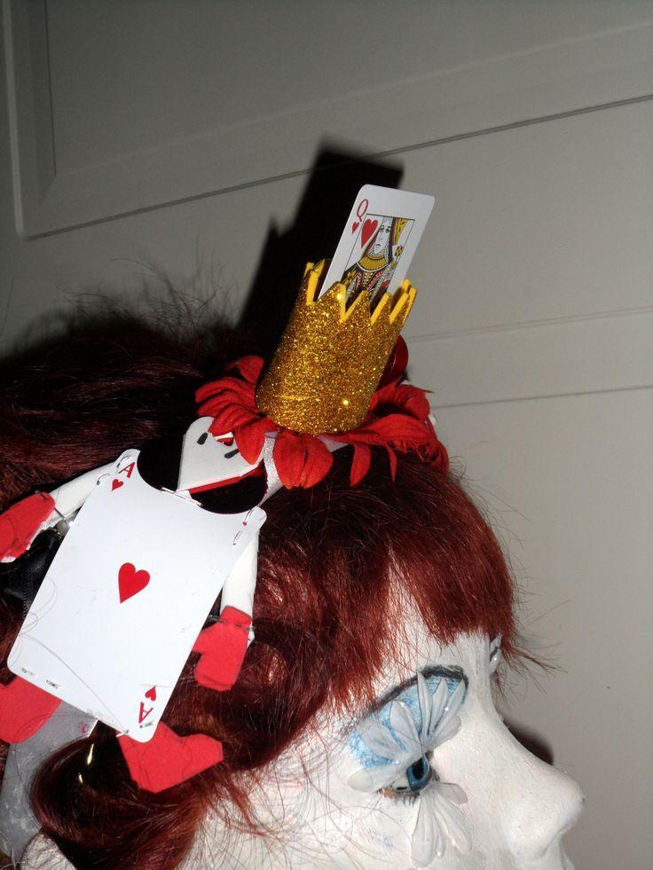 Made headband inspired by Alice in wonderland.