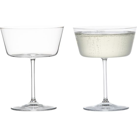 I have an addiction to glassware....Cora Sparkling Wine Glass in Champagne Flutes | Crate and Barrel