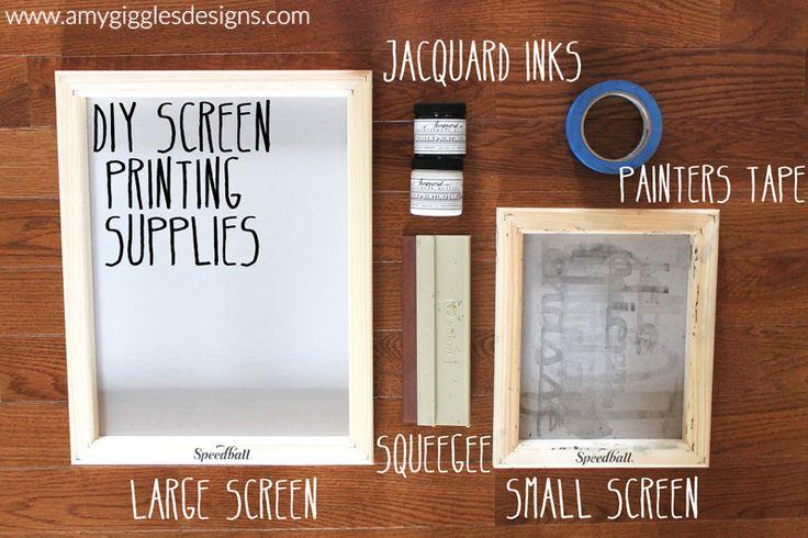 DIY Screen Printed T-shirts {made with custom vinyl designs}