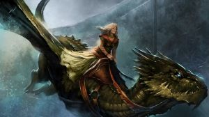 Preview wallpaper a song of ice and fire roleplaying, queen alysanne, game of thrones, dragon, girl, cold, flight, city 1920x1080