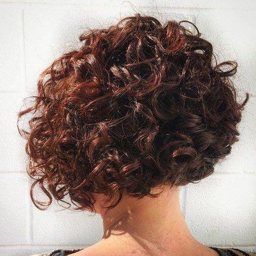Short+Curly+Mahogany+Bob+Hairstyle