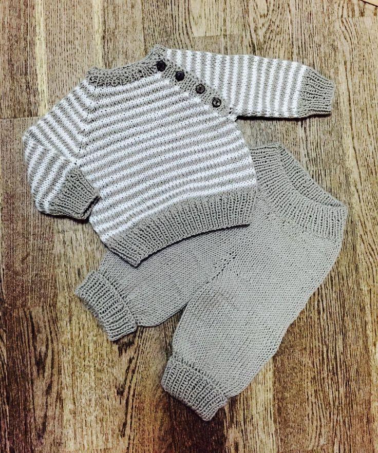 Вязаный костюм для малыша