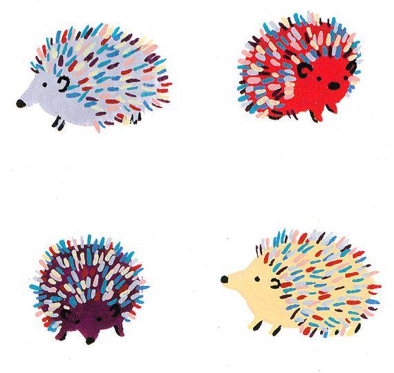 Happy Hedgehogs by MelindaBoyce on Etsy