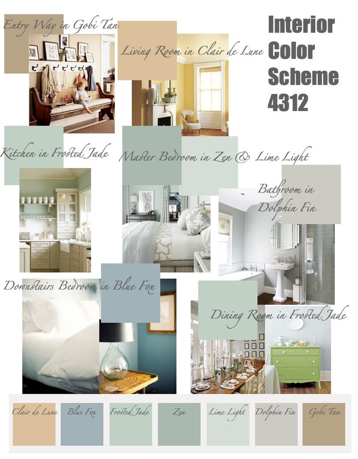 Paint Color Palettes After Much Deliberation I Have Finally Decided On The Scheme For My New House All Behr Colors
