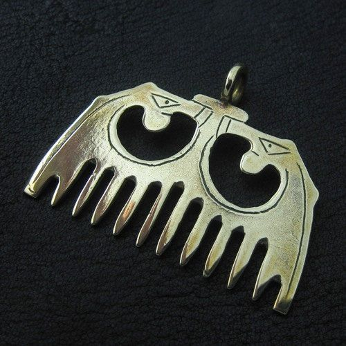 Bronze medieval comb by Sulik on Etsy