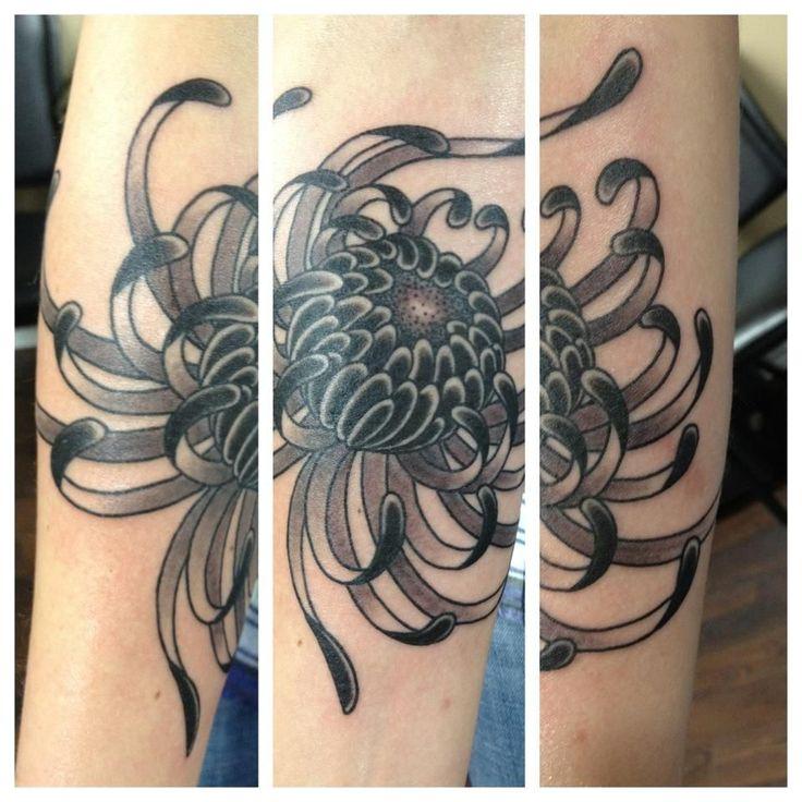 Chrysanthemum tattoo | Forearm Chrysanthemum Tattoo Designs