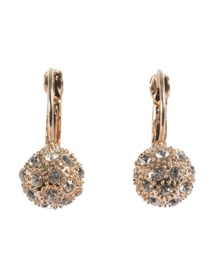 Diamanté Spaceball Drop Earrings