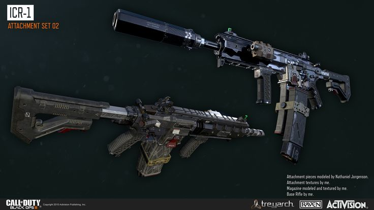 Assault rifle from Black Ops 3 Art Direction provided by Treyarch Concept by Eliott Lilly