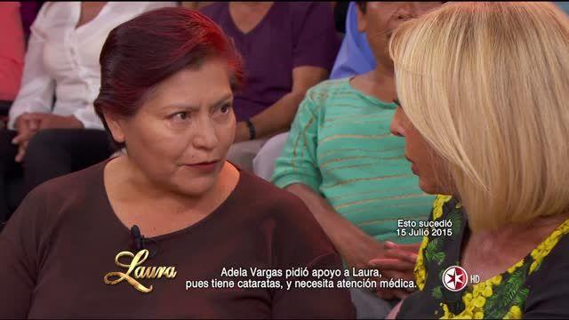 Laura ayuda a señora que padece cataratas y su operación a pesar de padecer diabetes, resulta un rotundo éxito.