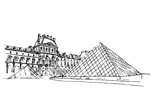 Famous Louvre Museum Coloring Pages