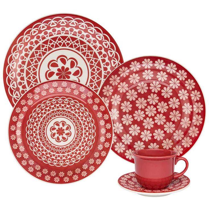 Aparelho de Jantar Floreal Renda - Oxford Daily - Oxford Porcelanas