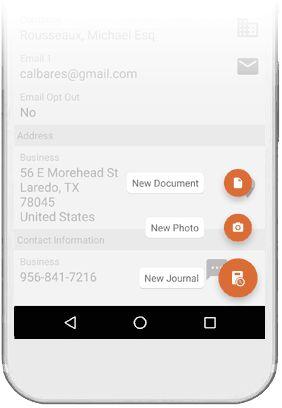 Legg til Journaler & Dokumenter. Alt på ett sted. •I møte med en kunde? Slapp av og ta notater på telefon eller nettbrett. •Behov for å vedlegge et dokument? Gjør det enkelt fra eWay-CRM app'n. •Legg inn en påminnelse for å huske på det når du er tilbake på kontoret. •Én liten ting til… du kan få eWay-CRM til å automatisk gi deg en påminnelse om å lage et referat rett etter en samtale.