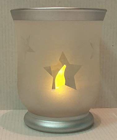 Unbekannt Weihnachts Windlicht 11cm Glas Sternemotiv