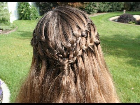 Like the Waterfall Braid???  You'll LOVE this Double Waterfall with hair-wrapped ponytail!