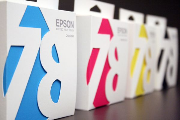 Epson Ink Cartridge Packaging by Ali Prater, via Behance