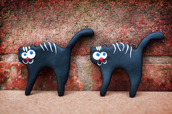 Black Cat magnet Dog magnet Elephant magnet by handmadeBYmamas