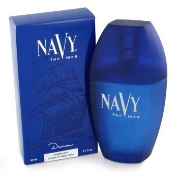 Dana Navy. Oriëntaals parfum uit 1990, met topnoten van perzik en groen in de top, oranjebloesem, jasmijn, ylang-ylang en roos in het hart en muskus, amber en vanille in de basis