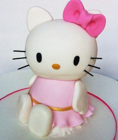 pastel de hello kitty cuerpo entero  - Cómo hacer un pastel de Hello Kitty para un cumpleaños 10