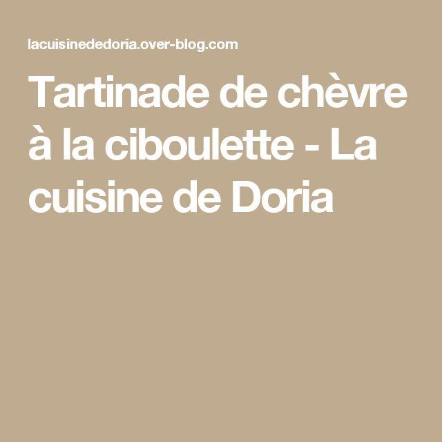 Tartinade de chèvre à la ciboulette - La cuisine de Doria