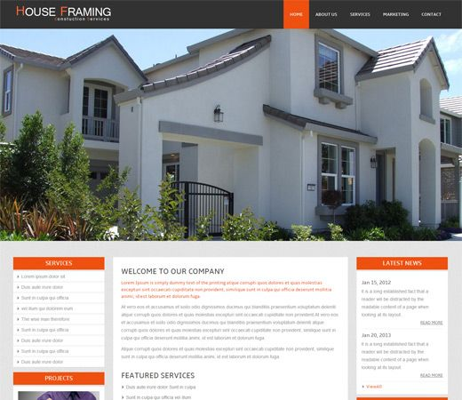 The 16 best Real-estates Builders Responsive Mobile web Templates ...