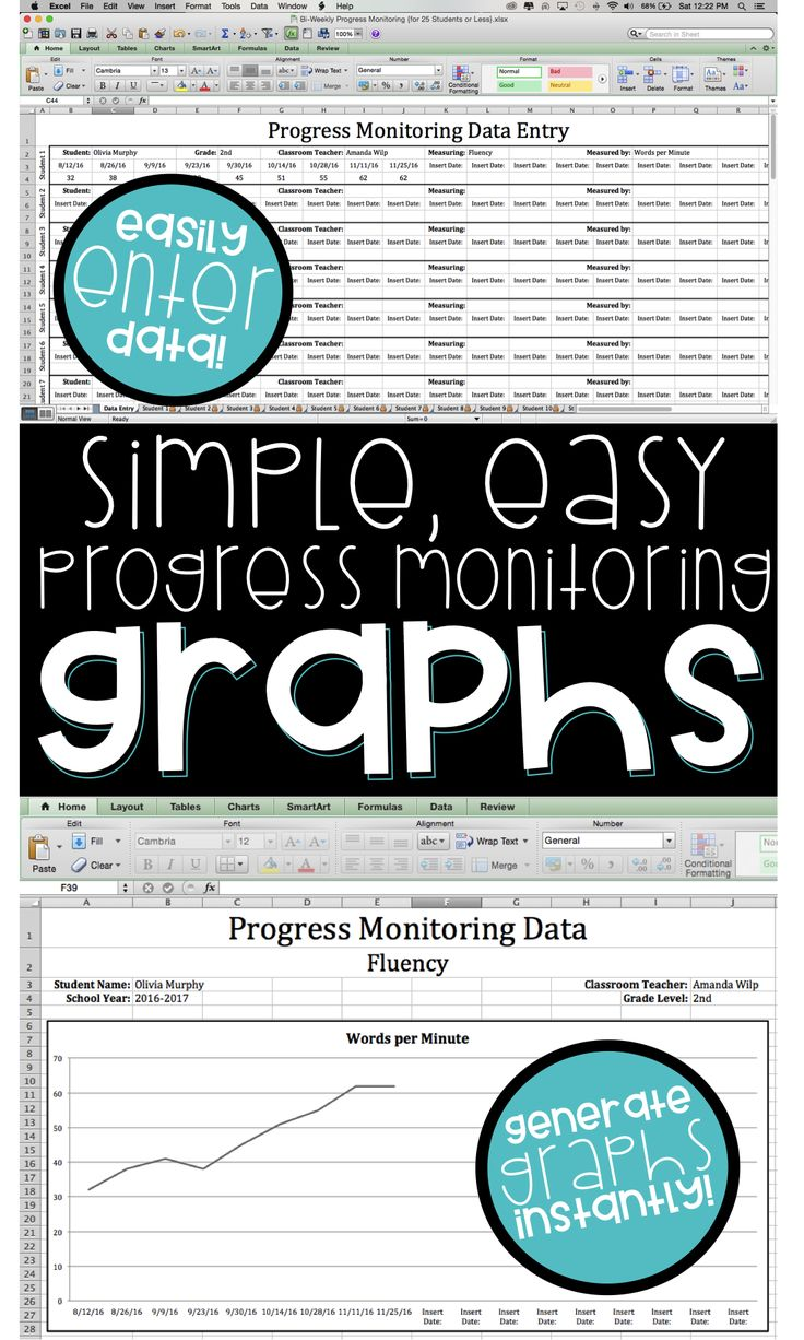 This set of progress monitoring graphs is AMAZING for entering data and automatically generating graphs.  It is the perfect way to organize your RTI & IEP data!