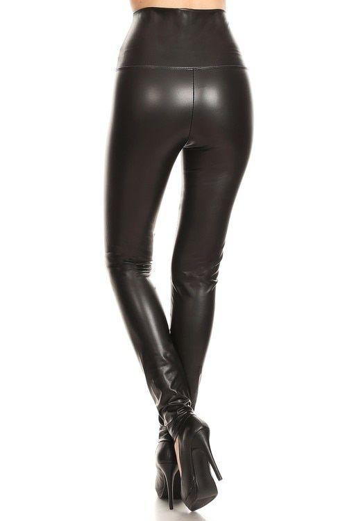74b248c2bea84 Premium High Waisted Matte Faux Leather Leggings di 2019 | Skinny ...