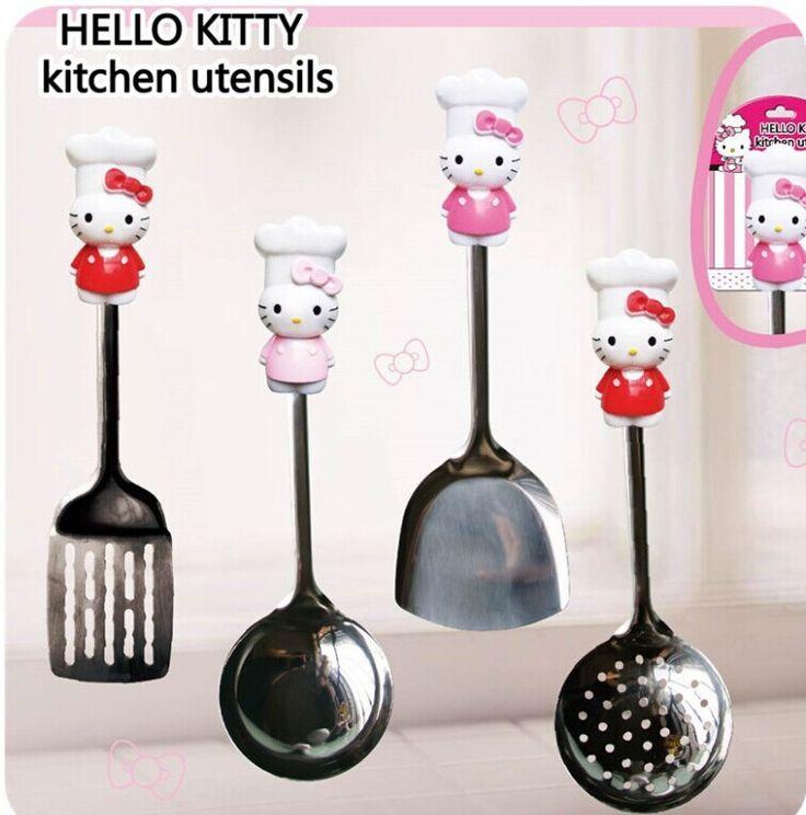 Gr tis frete ol kitty utens lios de cozinha conjunto de for Utensilios de cocina hello kitty