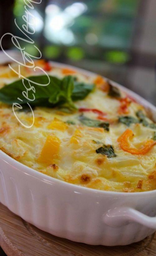 Breakfast Omelette In the Oven, an easy breakfast idea!