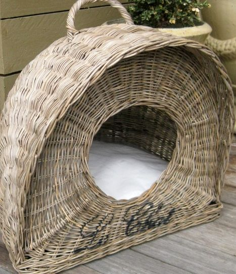 Cesta para gato de papel de periódico -  Cat basket with newspaper