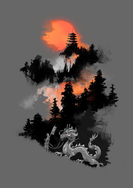 Poster | A SAMURAI'S LIFE von Budi Kwan | more posters at http://moreposter.de