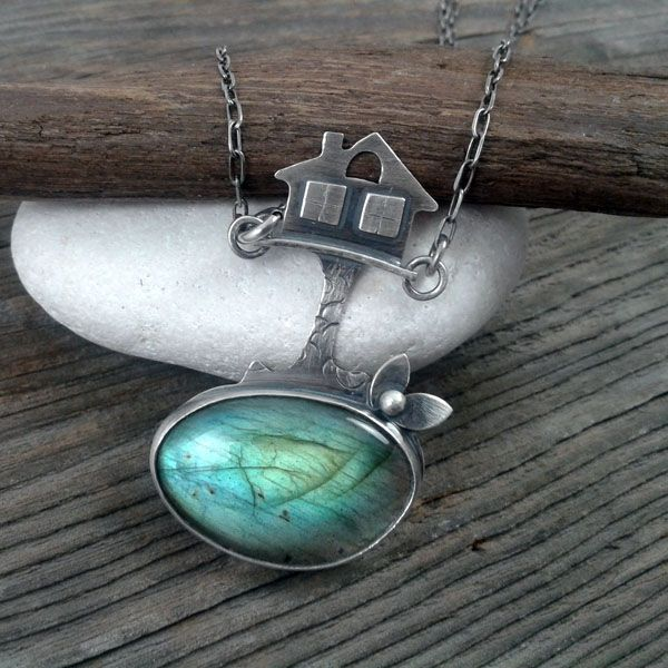 Labradorite in silver.