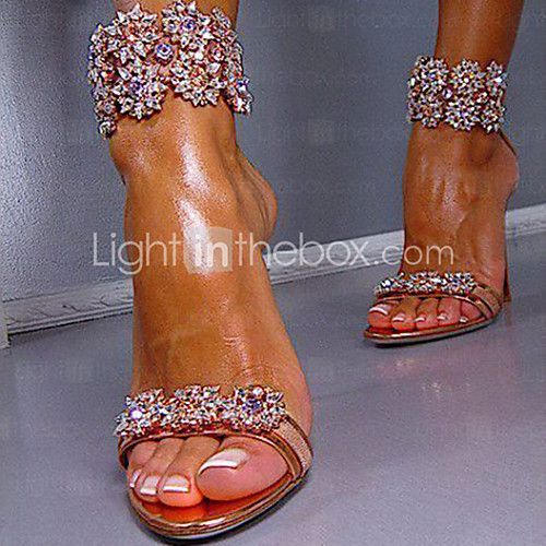 Women's Shoes Heel Heels / Peep Toe Sandals / Heels Wedding / Party & Evening / Dress Rose Gold 2017 - $40.49