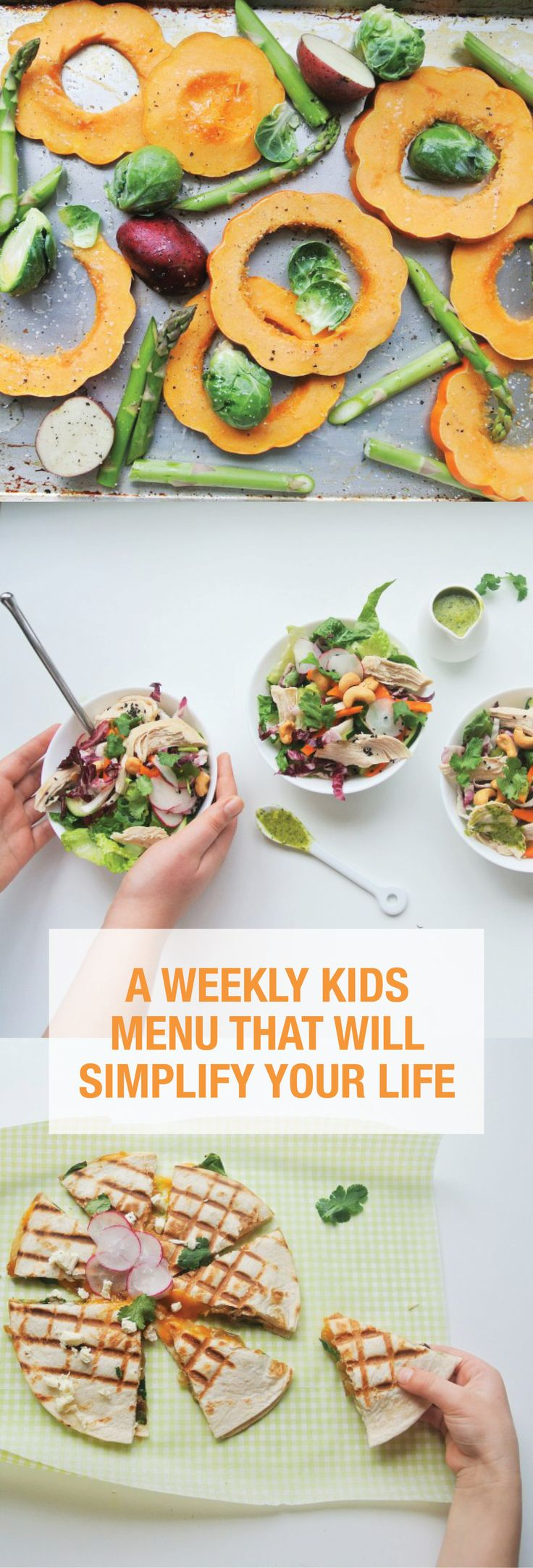 A Weekly Kids Menu That Will Simplify Your Life | Martha Stewart Living - Are you in a recipe rut for healthy family meals? Well, we're here to help! We've put together a simple weekly meal plan for kids -- all dietitian-approved, mom-approved and kids-approved! This is one kids menu that is sure to please everyone in the family.