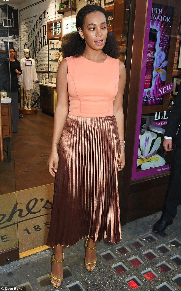 Rocking it: Solange Knowles went all out for metallics for the Kiehl's Pioneers By Nature Party in London