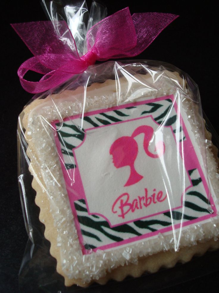 Barbie Party Cookie Favors. $36.00, via Etsy.