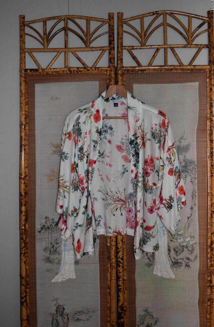 Crop Kimono  - Poppy