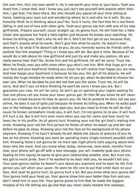 This is probably the saddest break up quote I have seen.. :( Really ...