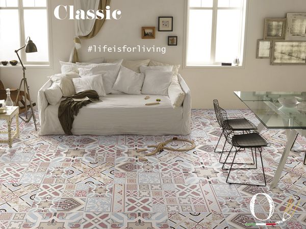 La casa va vissuta, come la vita! / Home has to be lived as life! / #livingroom #ceramic #tiles #madeinitaly